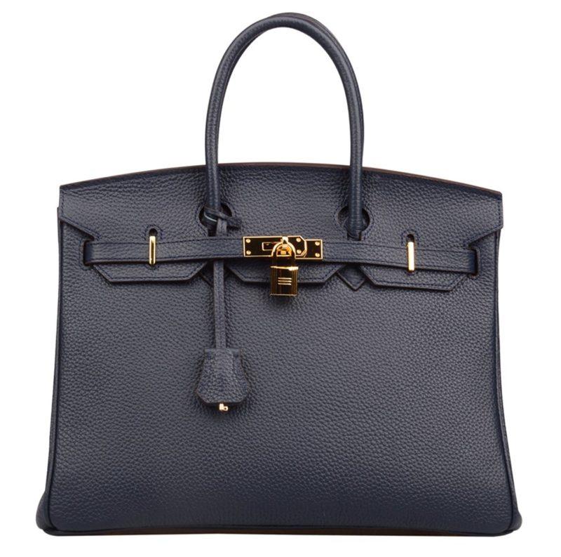 Ainifeel Women S Genuine Leather Padlock Handbags With