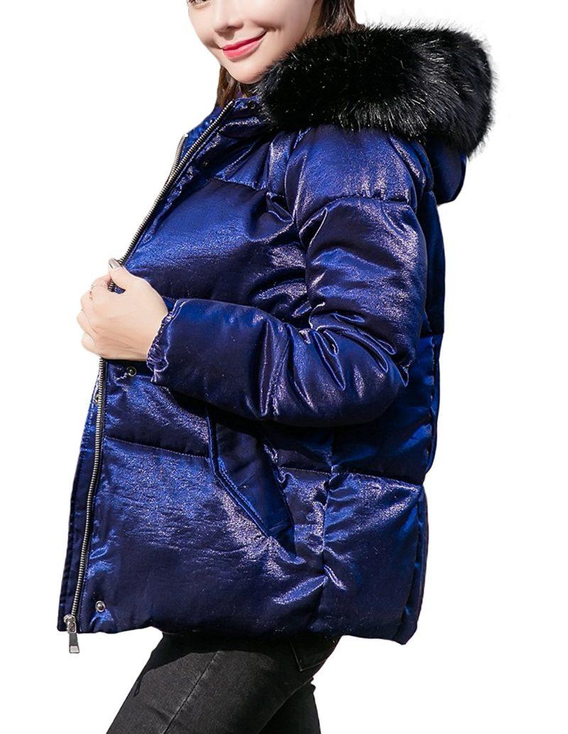 Women Hooded Down Jacket Winter Padded Coat Ladies Slim Thin Parka Overcoat US02