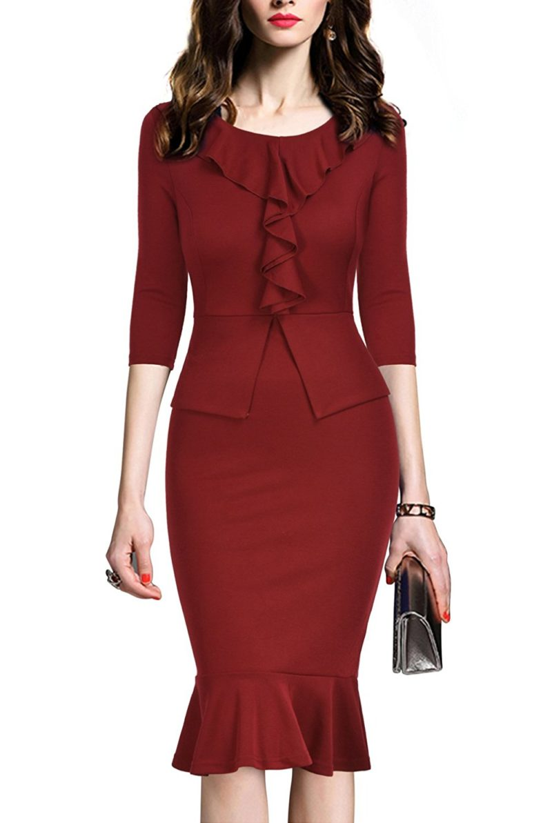 Rephyllis Women S Vintage One Piece Office Wear To Work