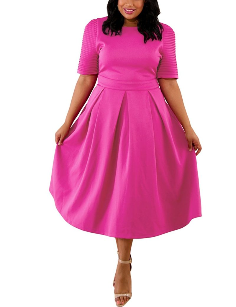 9a0e8162367 Lalagen Womens Plus Size 1950s Vintage Cocktail Dresses Flare Swing Midi  Dress - Shop2online best woman s fashion products designed to provide